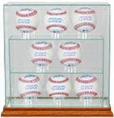 "Perfect Cases ""8 Baseball"" Upright Display Cases"