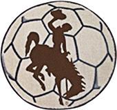 Fan Mats University of Wyoming Soccer Ball Mat