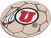 Fan Mats University of Utah Soccer Ball Mat