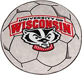 Fan Mats University of Wisconsin Soccer Ball Mat