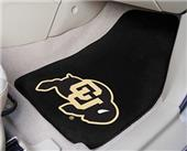 Fan Mats Univ of Colorado Carpet Car Mats (set)