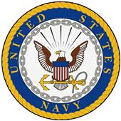 "Fan Mats United States Navy 44"" Round Area Rug"
