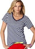 Anvil Women's Sheer Stripe V-Neck T-Shirts