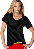 Anvil Women's Sheer Stripe V-Neck T-Shirts