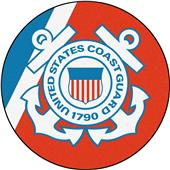 "Fan Mats United States Coast Guard 44"" Round Rug"