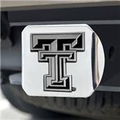 Fan Mats Texas Tech University Chrome Hitch Cover