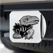 Fan Mats University of Kansas Chrome Hitch Cover
