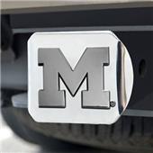 Fan Mats University of Michigan Chrome Hitch Cover