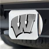 Fan Mats Univ. of Wisconsin Chrome Hitch Cover
