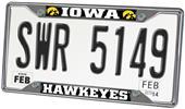 Fan Mats University of Iowa License Plate Frame