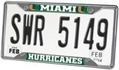 Fan Mats University of Miami License Plate Frame
