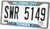 Fan Mats Oklahoma City Thunder License Plate Frame