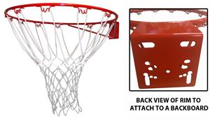 ORANGE RIM/RED/WHITE/BLUE NET