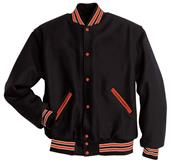 Holloway Letterman All Wool Full Front Snap Jacket
