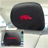 Fan Mats University of Arkansas Head Rest Covers