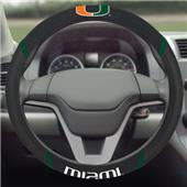 Fan Mats University of Miami Steering Wheel Covers