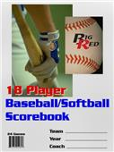 Blazer Baseball/Softball 18 Player Scorebook