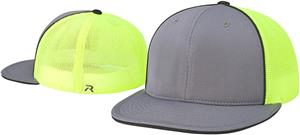 (COMBO) CHARCOAL FRONT/BLACK PIPING/NEON GREEN