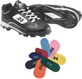 A4 Rookie Molded Rubber Baseball Cleats - Closeout