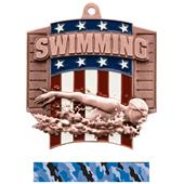Hasty Awards Patriot Swimming Medal M-776W