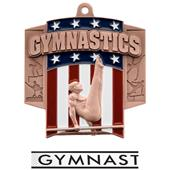 Hasty Awards Patriot Male Gymnastics Medal M-776G