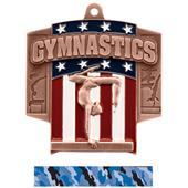 Hasty Awards Patriot Female Gymnastics Medal