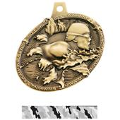 Hasty Awards Bust Out Swimming Medal M-755W