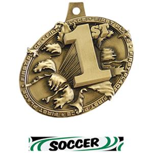 GOLD MEDAL/DELUXE SOCCER NECK RIBBON