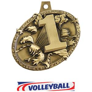 GOLD MEDAL/DELUXE VOLLEYBALL NECK RIBBON