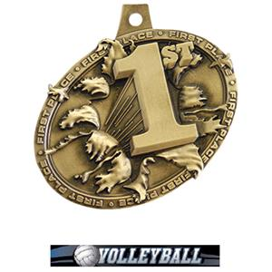 GOLD MEDAL/ULTIMATE VOLLEYBALL NECK RIBBON