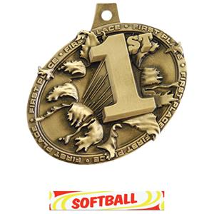 GOLD MEDAL/DELUXE SOFTBALL NECK RIBBON