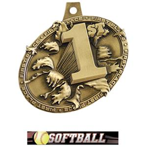 GOLD MEDAL/ULTIMATE SOFTBALL NECK RIBBON