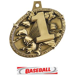 GOLD MEDAL/DELUXE BASEBALL NECK RIBBON