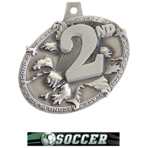 SILVER MEDAL/ULTIMATE SOCCER NECK RIBBON