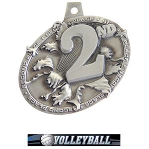 SILVER MEDAL/ULTIMATE VOLLEYBALL NECK RIBBON