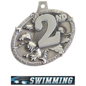 SILVER MEDAL/ULTIMATE SWIMMING NECK RIBBON