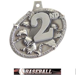 SILVER MEDAL/ULTIMATE BASEBALL NECK RIBBON