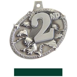 SILVER MEDAL/HUNTER NECK RIBBON