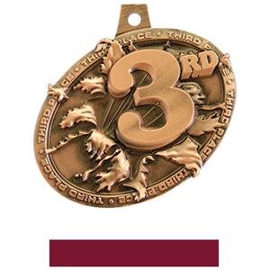 BRONZE MEDAL/MAROON NECK RIBBON