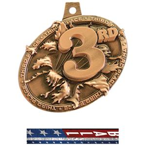 BRONZE MEDAL/PATRIOT VOLLEYBALL NECK RIBBON
