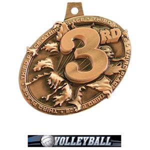 BRONZE MEDAL/ULTIMATE VOLLEYBALL NECK RIBBON
