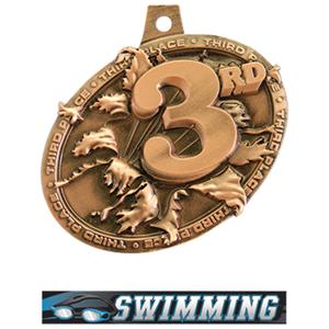 BRONZE MEDAL/ULTIMATE SWIMMING NECK RIBBON