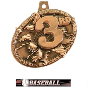 BRONZE MEDAL/ULTIMATE BASEBALL NECK RIBBON