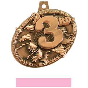 BRONZE MEDAL/PINK NECK RIBBON