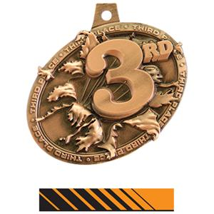 BRONZE MEDAL/PHOENIX ORANGE NECK RIBBON
