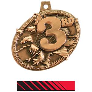 BRONZE MEDAL/PHOENIX RED NECK RIBBON