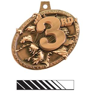 BRONZE MEDAL/PHOENIX WHITE NECK RIBBON