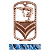 Hasty Awards Dogtag Gymnastics Medal M-785GF