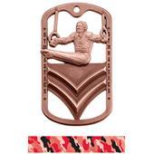 Hasty Awards Dogtag Male Gymnastics Medal M-785G