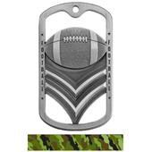 Hasty Awards Dogtag Football Medal M-785F